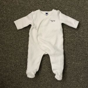 Janie and Jack quilted onesie 0-3 months